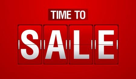 アナログ フリップ時計を販売する時間です。  イラスト・ベクター素材
