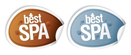 Best SPA stickers set. Stock Vector - 11976681