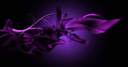 Dark violet illustration with ice crystals and light rays. Stock Illustration - 11976665