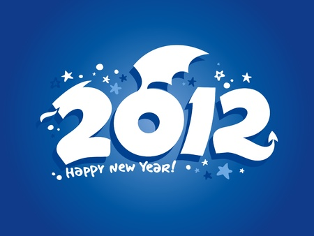 2012 year design in the form of a Dragon. Vector