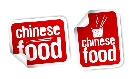 chinese takeout box: Best Chinese food stickers set.