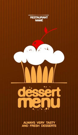 gourmet: Dessert Menu Card Design template.