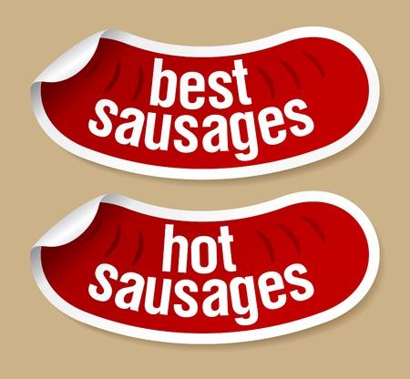 sausage dog: Best hot sausages stickers set.