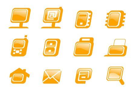 buisiness: Style web buisiness icons set. Illustration