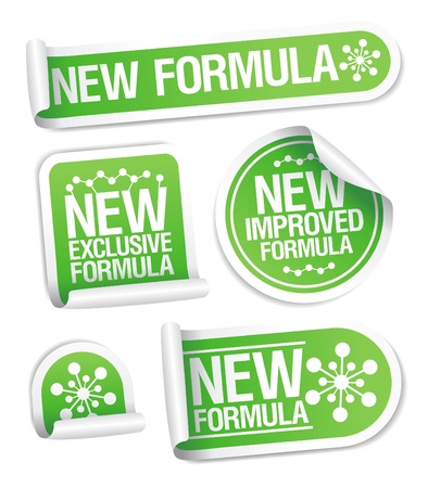 New Formula stickers set. Vector