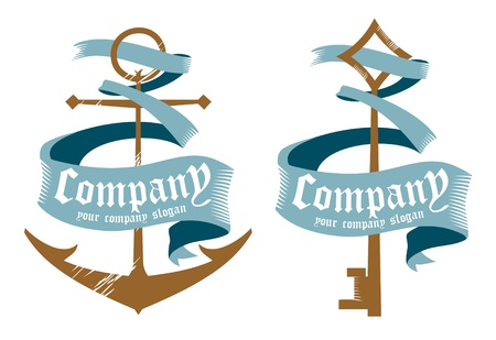 navy ship: Ejemplos de dise�o de los s�mbolos de las empresas mar�timas.