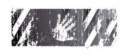 vieze handen: gestreepte achtergrond met een palm Stock Illustratie
