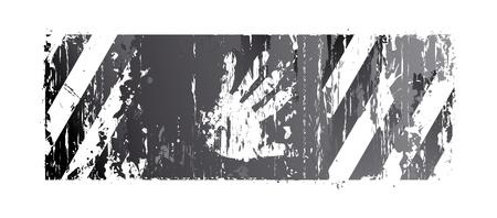 war paint: rayas de fondo con una palma