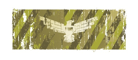 fascism: background with an eagle and holes from bullets Illustration