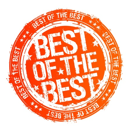 Best of the best rubber stamp. Vector