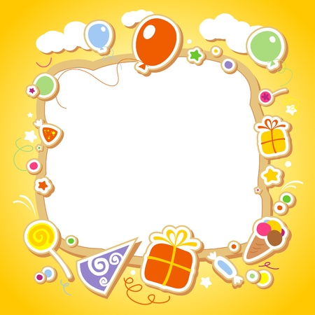 Template for baby's photo album or postcard. Stock Vector - 12230701