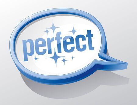 Perfect shiny glass speech bubble. Stock Vector - 12230684