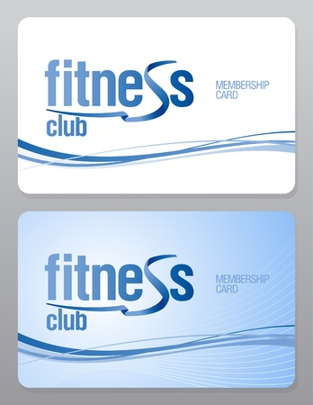 private club: Fitness club membership card design template.