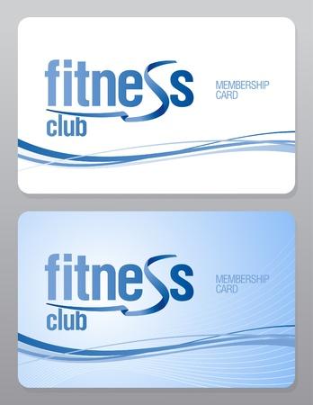 member: Fitness club membership card design template.