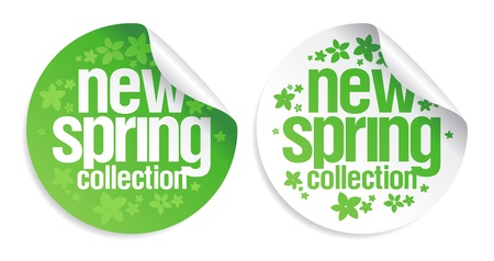 New spring collection stickers set. Vector