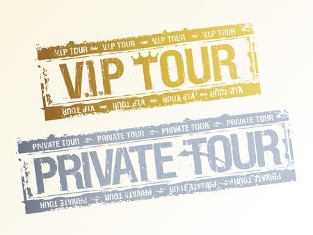 vip symbol: Tours privados VIP sellos de goma.