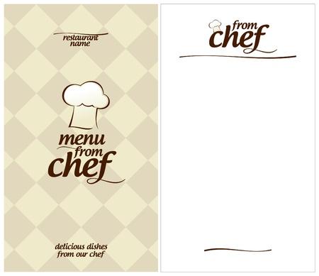 eating fast food: Men� especial de la plantilla de dise�o de Chef y la forma de una lista de platos Vectores