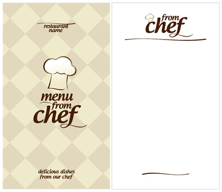 Special Menu from Chef Design template and the form for a list of dishes  Vector