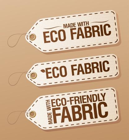 etiquetas de ropa: Hecho con el Eco-friendly tela colección de etiquetas