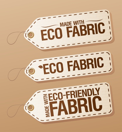 Made With Eco-friendly Fabric labels collection  Vector