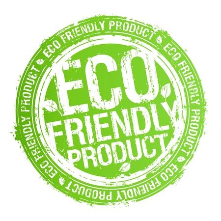 icono ecologico: Ecol�gica del producto amigable sello de goma