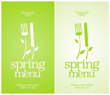 gastronomy: Restaurant Spring Menu Card Design template