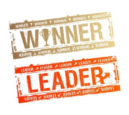 gagnants: Tampons en caoutchouc Winner et chef