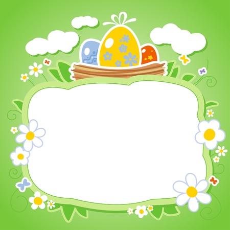 Ostern-Karten-Schablone mit Rahmen für Foto oder Text