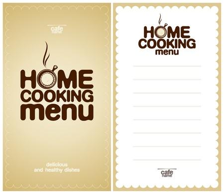 hausmannskost: Home Cooking Menu Design Template und das Formular f�r eine Liste der Gerichte.