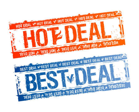 Best hot deal rubber stamps set. Vector