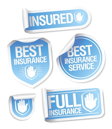 Best insurance service stickers. Vector