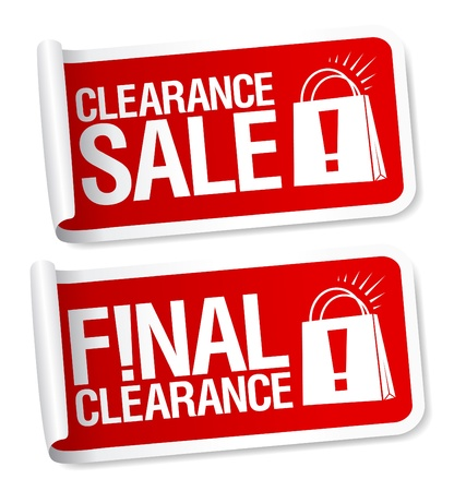 clearance sale: Final clearance sale stickers  Illustration
