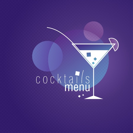 Coctails Menu Card Design template  Vector