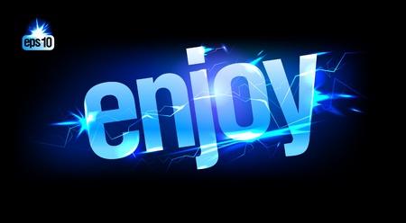 Blue abstract plasma Enjoy. Eps10 Vector. Stock Vector - 12867170