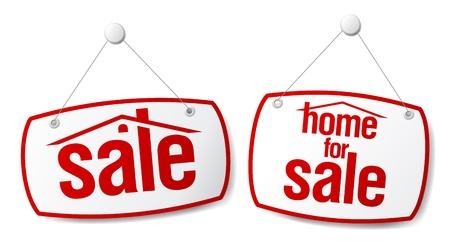 forsale: Property Sale Vector Signs Illustration