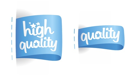 first rate: High quality labels set. Illustration