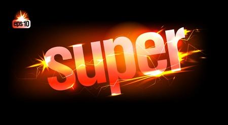 Fiery Super. Eps10 Vector. Stock Vector - 12867171