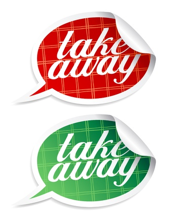takeout: Take away stickers in form of speech bubbles.