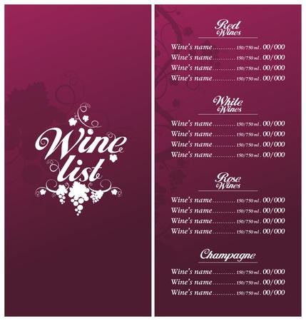 Wine List Menu Card Design template. Stock Vector - 12867166