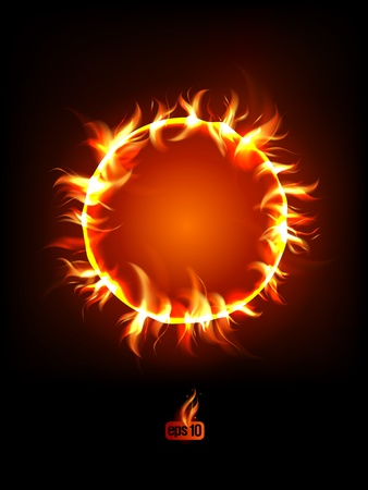 Solar eclipse illustration. Stock Vector - 12964699