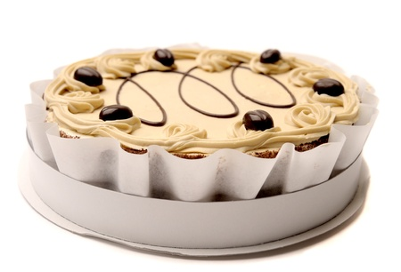 chocolaty: Beautiful whole packaged cake with pistachio cream.