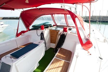 Lounge cockpit inside a boat  photo