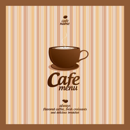 chocolate background: Restaurant Menu Card Design template