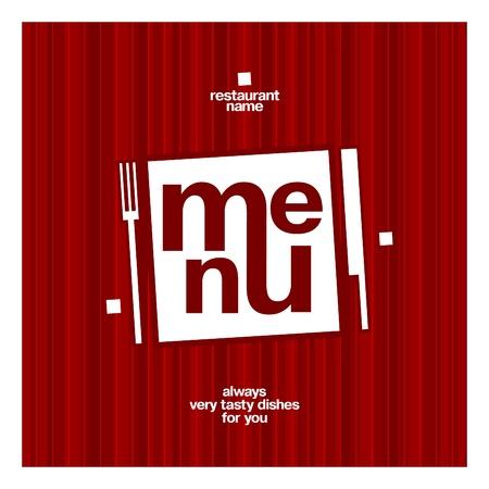 restaurante: Restaurante molde do projeto do cartão do menu Ilustração