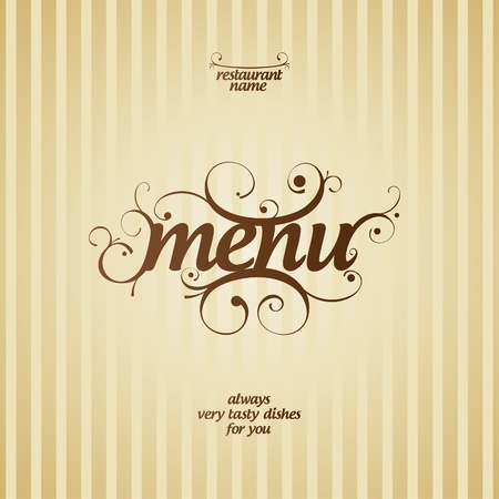 Restaurant Menu Card Design template  Stock Vector - 13125322