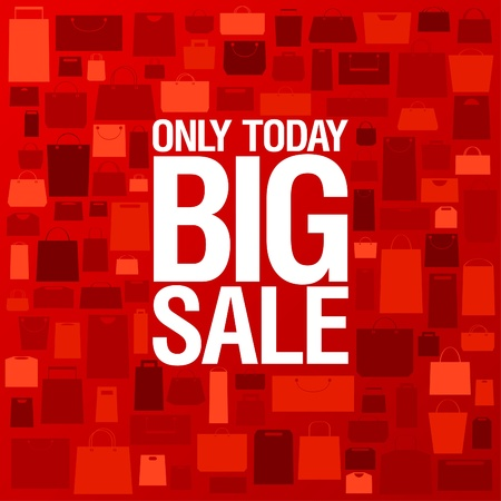 big sale: Big sale background with shopping bags pattern