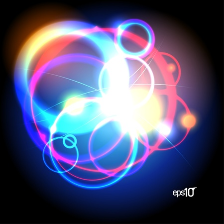 Abstract neon design template   Vector