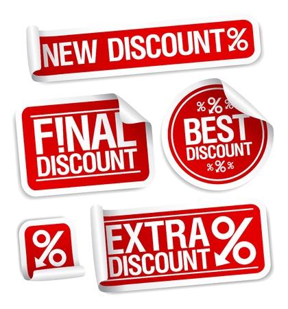 bargain price: Best discount sale stickers set  Illustration