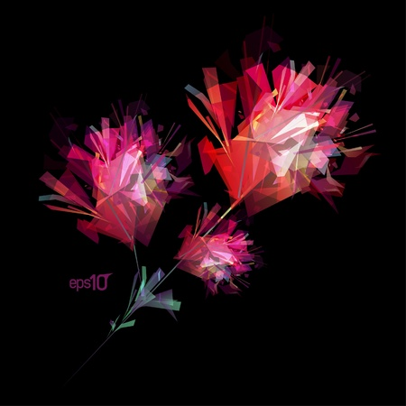 Abstract flower design template Vector