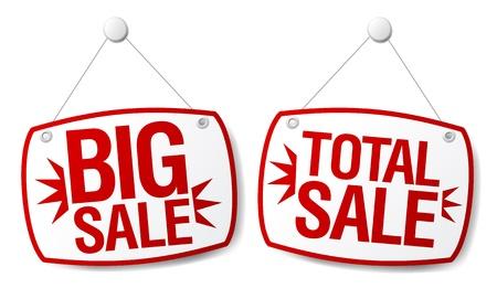internet mark: Total sale signs set.